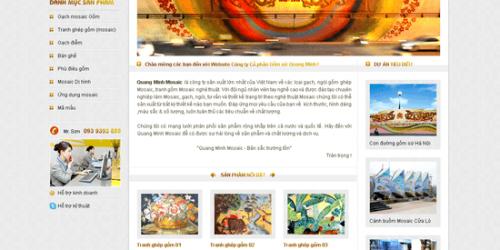 Dịch vụ sửa website gốm sứ, mỹ nghệ chuyên nghiệp độc đáo