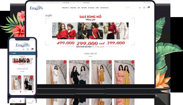 Dịch vụ sửa website thời trang - phụ kiện