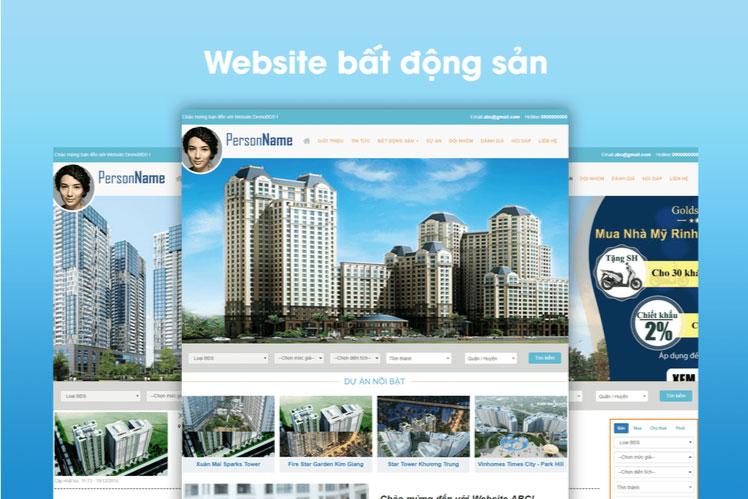 Dịch vụ sửa website bất động sản