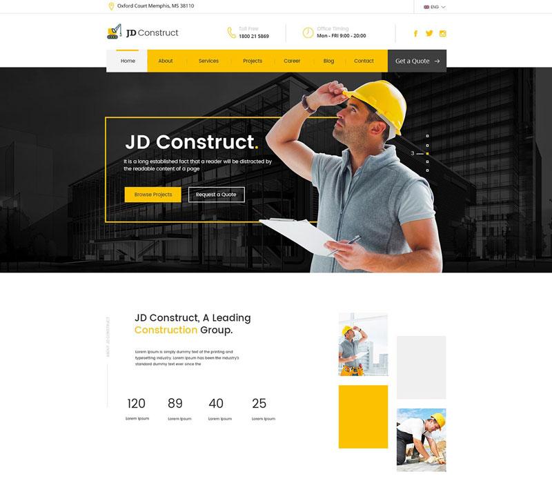 Dịch vụ sửa website xây dựng công trình